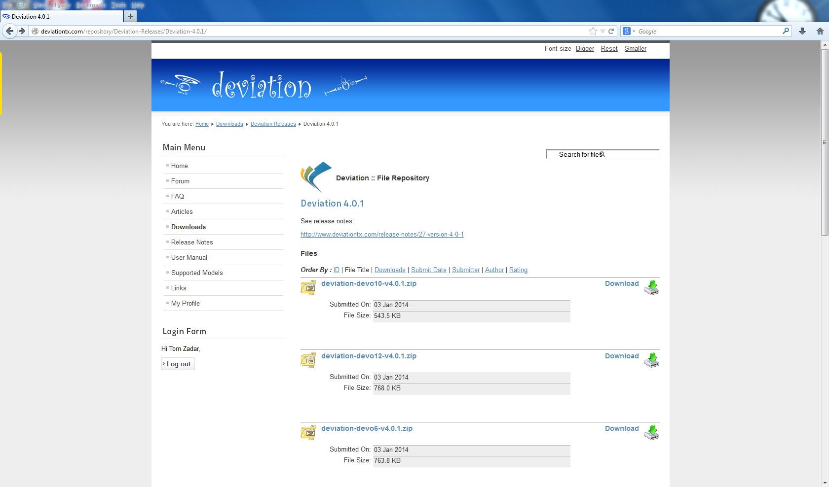 Deviation - Deviation Emulators - Download/Unzip/Start Program